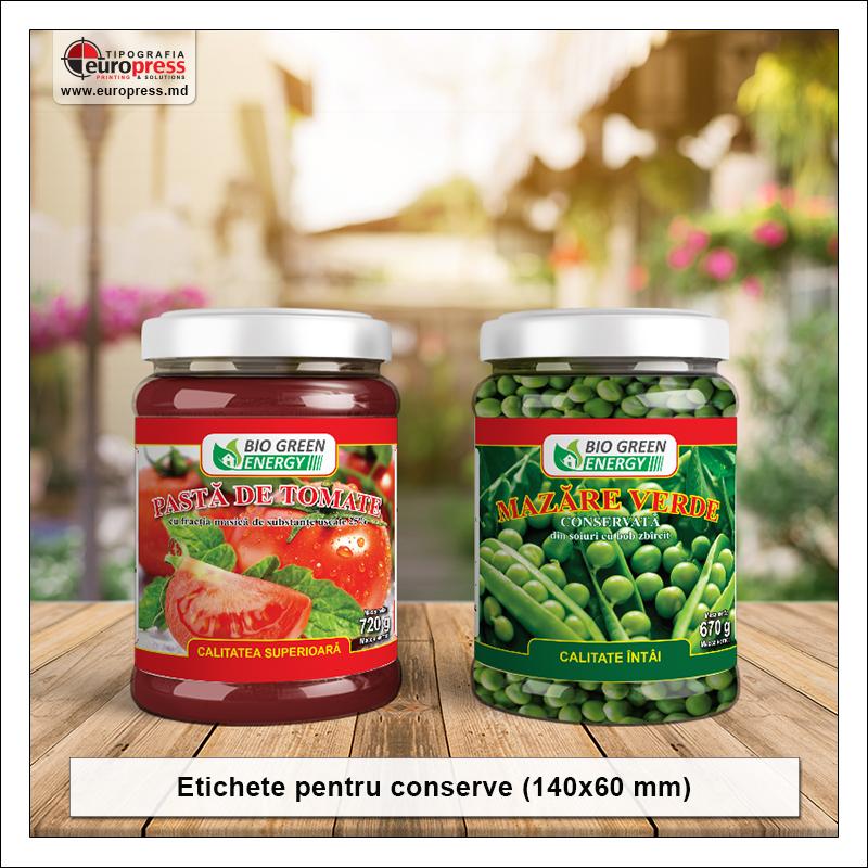 Etichete pentru conserve - Varietate etichete pentru produse - Tipografia Europress