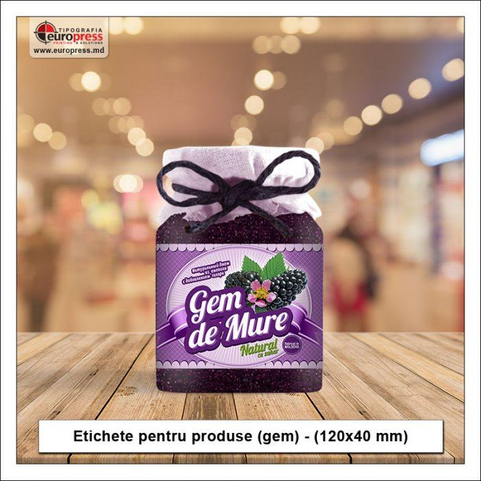 Etichete pentru produse gem - Varietate etichete pentru produse - Tipografia Europress
