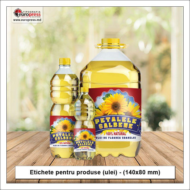 Etichete pentru produse ulei - Varietate etichete pentru produse - Tipografia Europress