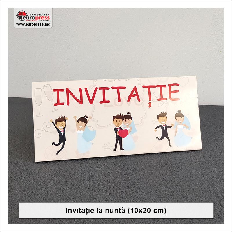 Invitatie pentru Nunta Stil 2 - Varietate invitatii si articole pentru Nunta - Tipografia Europress