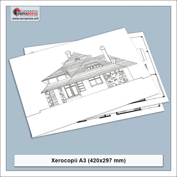 Xerocopii A3 - Varietate Xerocopii - Tipografia Europress