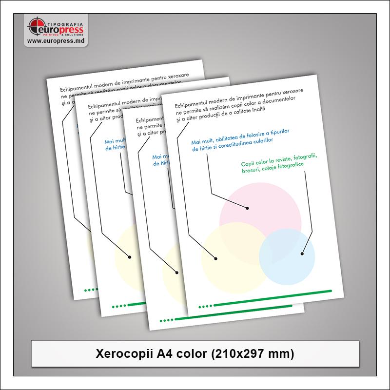 Xerocopii A4 Color - Varietate Xerocopii - Tipografia Europress