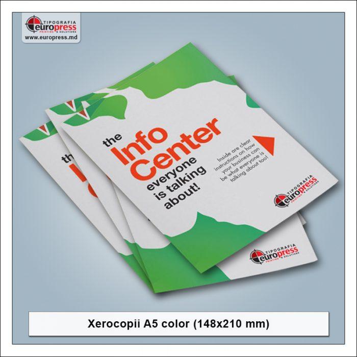 Xerocopii A5 color - Varietate Xerocopii - Tipografia Europress