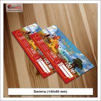 Билеты 140x60 mm - разнообразие Афиш - типография Europress