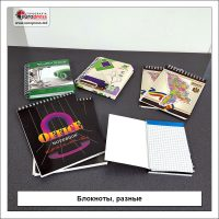 Блокноты разные - разнообразие офисных принадлежностей - типография Europress