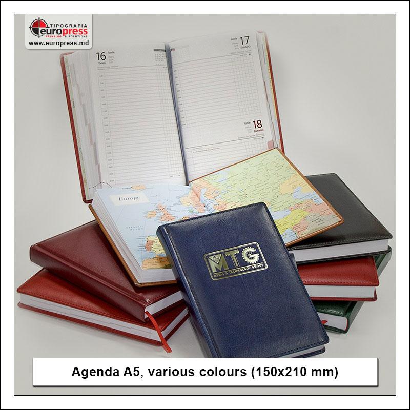 Agenda A5 various colours - Variety of Agendas - EuroPress Printing House
