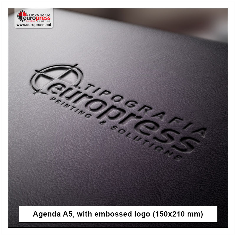 Agenda A5 with embossed logo - Variety of Agendas - EuroPress Printing House