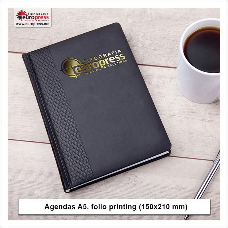 Agendas A5 folio printing 150x210 mm - Variety of Agendas - EuroPress Printing House