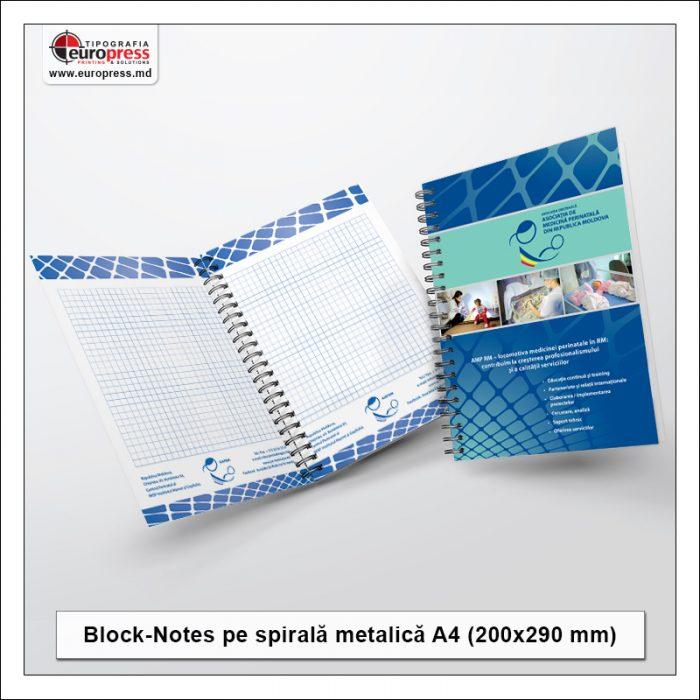 BlockNote A4 spirala metalica - Varietate BlockNotes - Tipografia Europress
