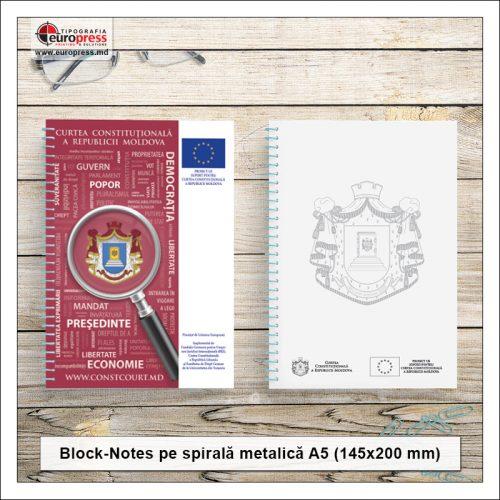 BlockNote A5 spirala metalica - Varietate BlockNotes - Tipografia Europress