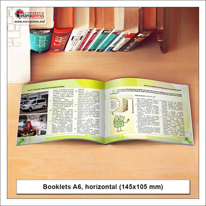 Booklet A6 horizontal - Variety of Booklets - EuroPress Printing House