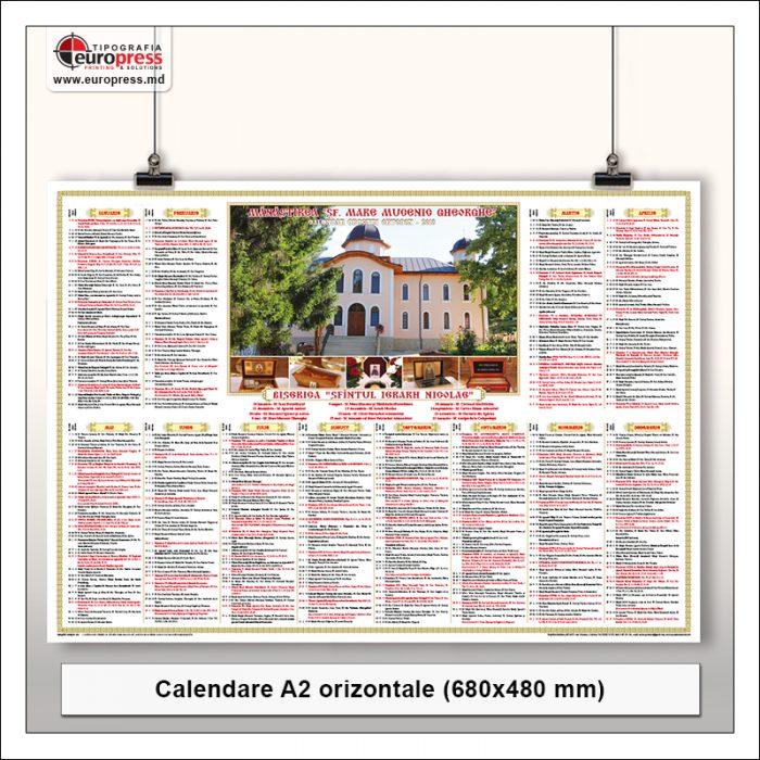 Calendare A2 orizontale - Varietate Calendare - Tipografia Europress