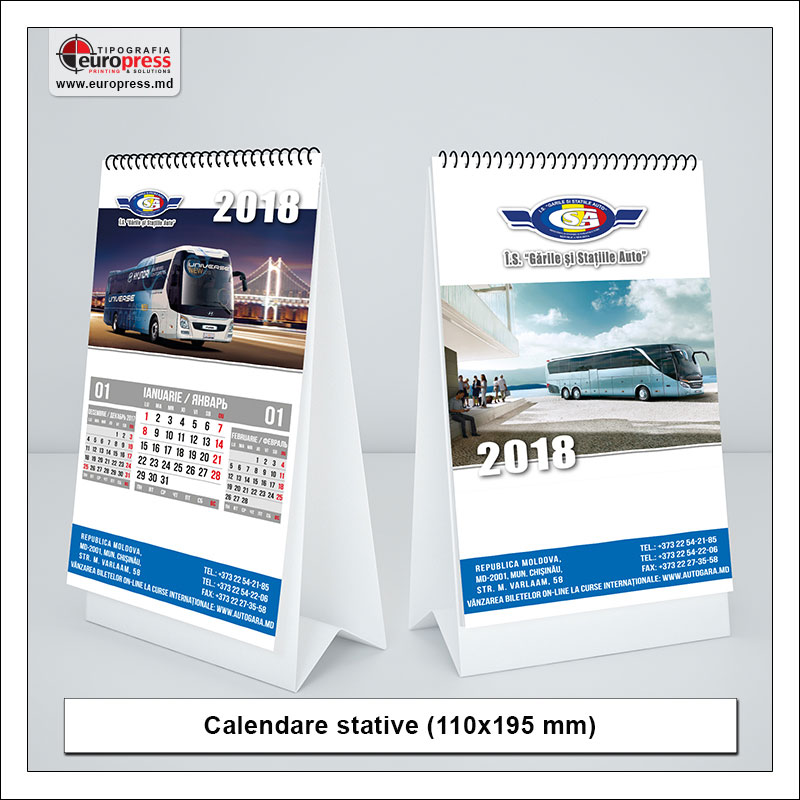 Calendare stative Stil 1 - Varietate Calendare - Tipografia Europress