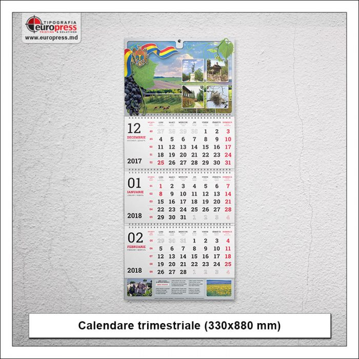 Calendare trimestriale - Varietate Calendare - Tipografia Europress