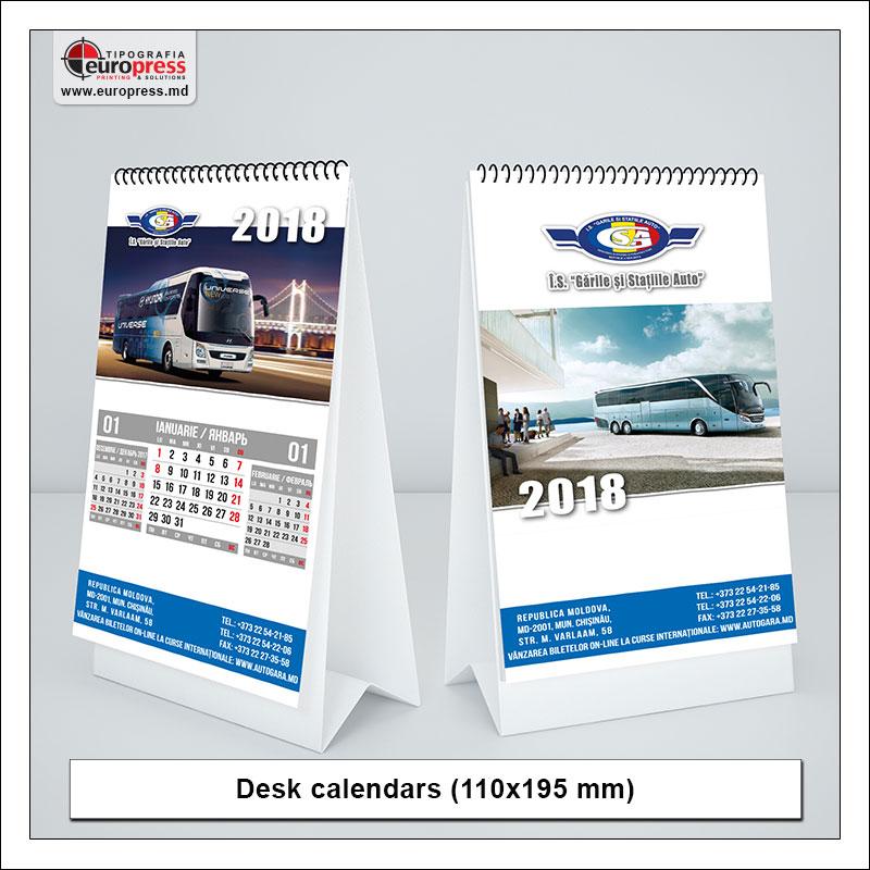 Desk calendars style 1 - Variety of calendars - Europress Printing House