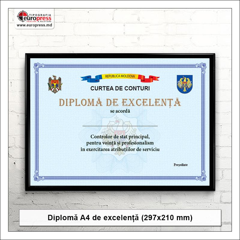 Diploma A4 de excelenta - Varietate Diplome - Tipografia Europress