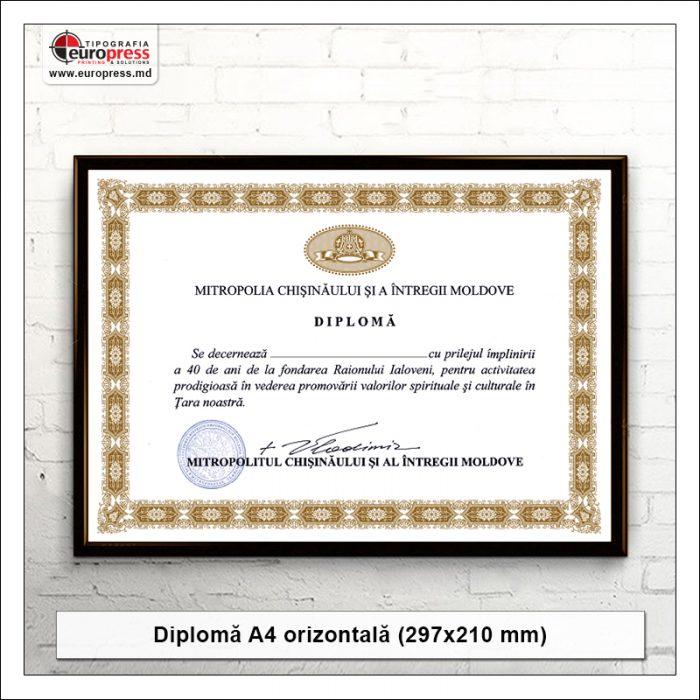 Diploma A4 orizontala - Varietate Diplome - Tipografia Europress