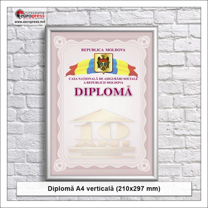 Diploma A4 verticala - Varietate Diplome - Tipografia Europress