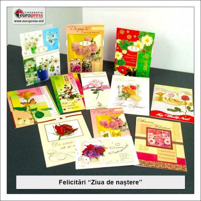 Felicitare de Ziua de Nastere - Varietate Felicitari - Tipografia Europress