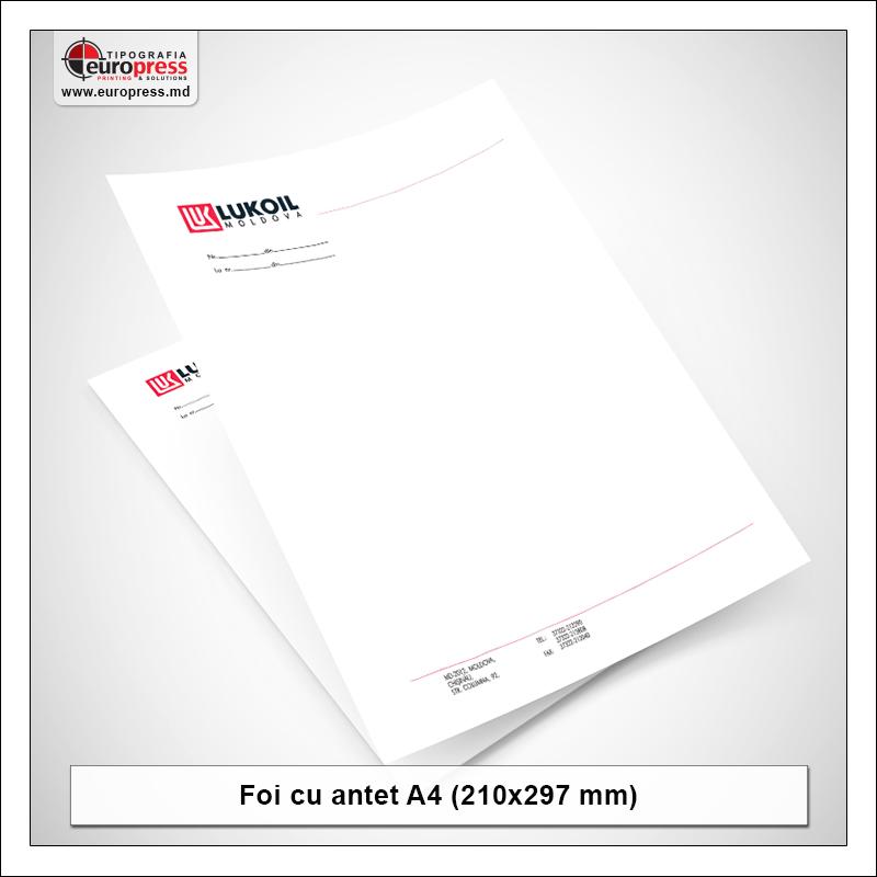 Foaie cu antet Stil 1 - Varietate Foi cu antet - Tipografia Europress