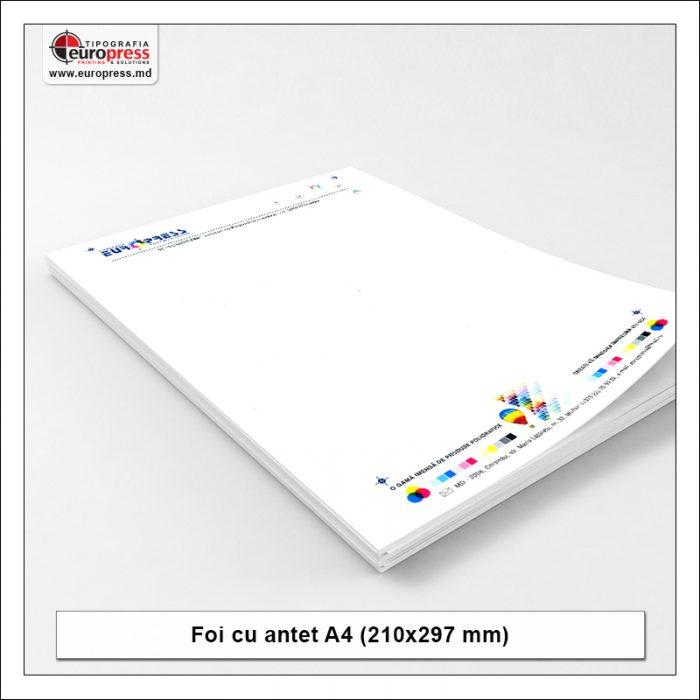 Foaie cu antet Stil 3 - Varietate Foi cu antet - Tipografia Europress