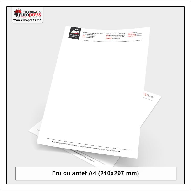 Foaie cu antet Stil 4 - Varietate Foi cu antet - Tipografia Europress