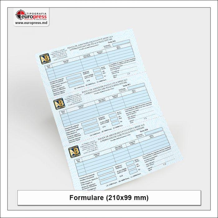 Formular 210x100 mm - Varietate Formulare - Tipografia Europress