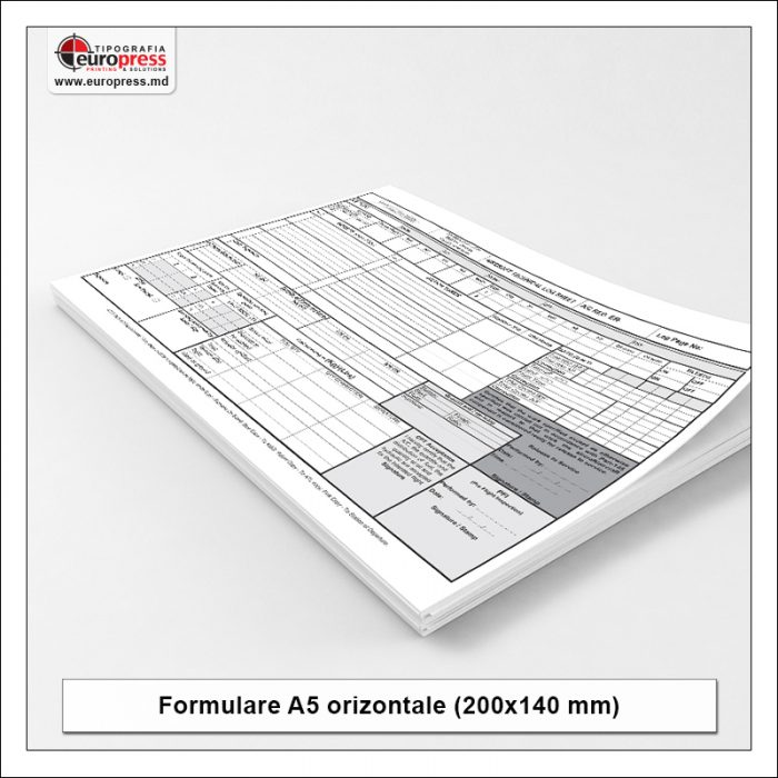 Formular A5 orizontala - Varietate Formulare - Tipografia Europress