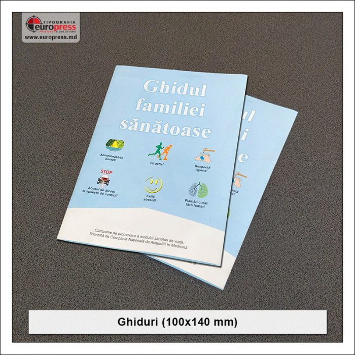 Ghid 100x140 mm - Varietate Ghiduri - Tipografia Europress