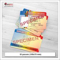 ID passes 100x70 mm - Variety of ID passes - Europress Printing House