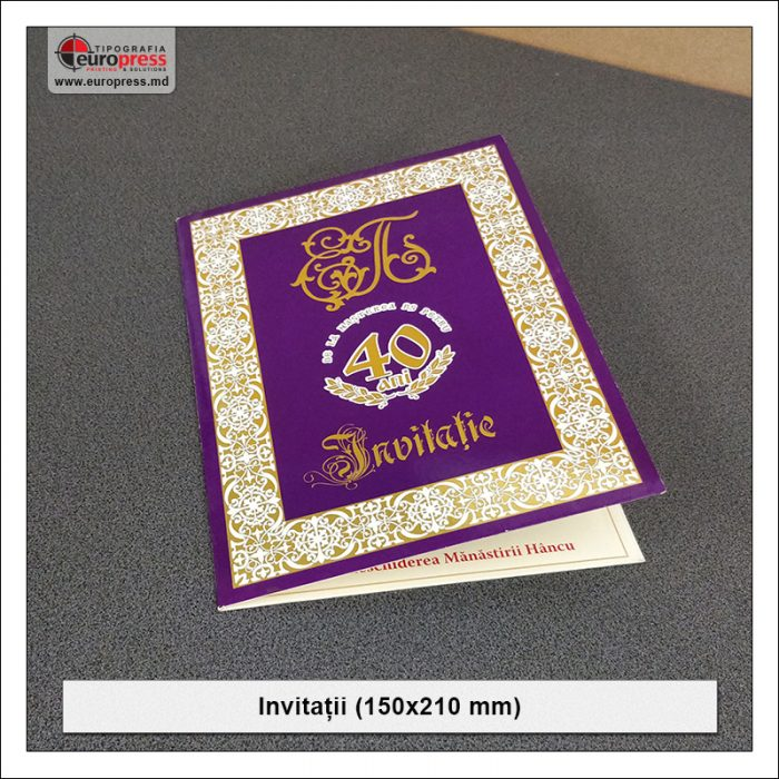 Invitatie 150x210 mm - Varietate Invitatii - Tipografia Europress
