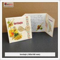 Invitatie 160x160 mm - Varietate Invitatii - Tipografia Europress