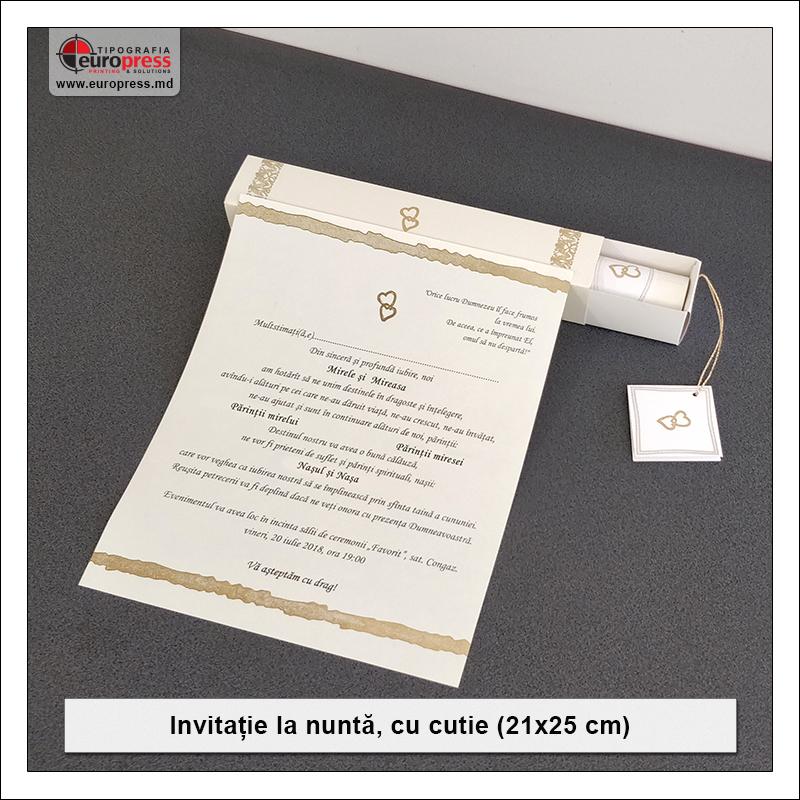 Invitatie cu cutie pentru nunta - Varietate Invitatii si articole pentru Nunta - Tipografia Europress
