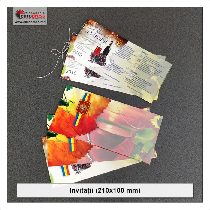 Invitatii 210x100 mm - Varietate Invitatii - Tipografia Europress