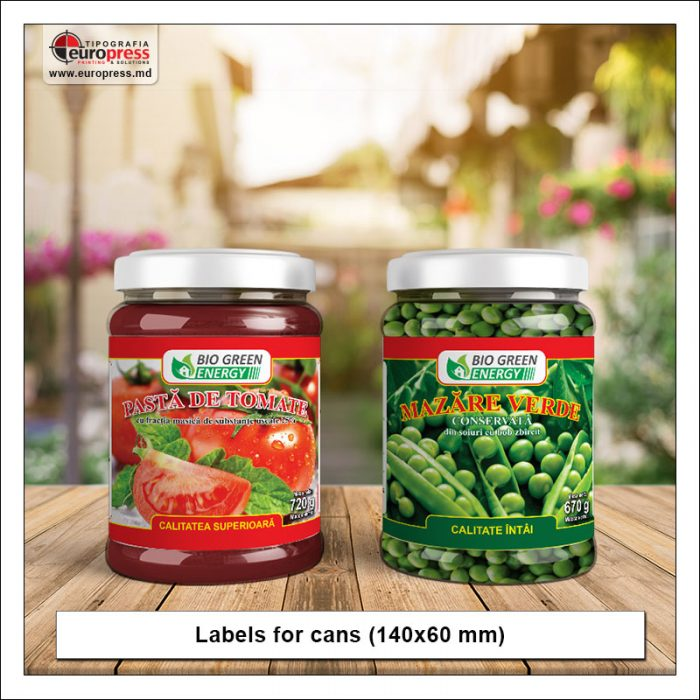 Labels for cans - Variety of Labels for products - EuroPress Printing House