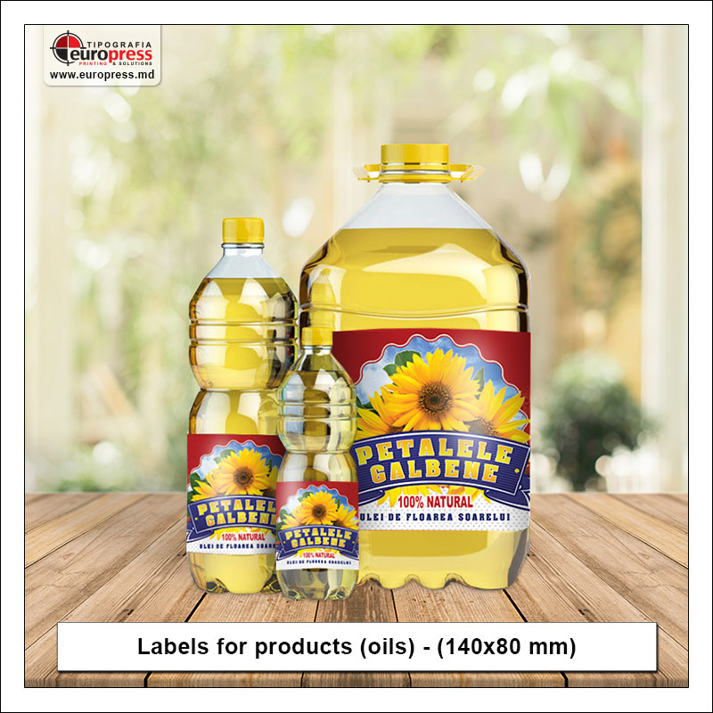 Labels for products oils - Variety of Labels for products - EuroPress Printing House