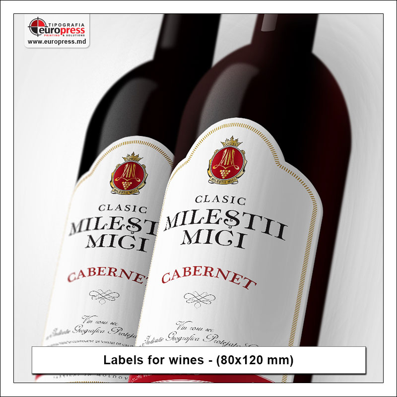 Labels for wines - Variety of Labels for products - EuroPress Printing House