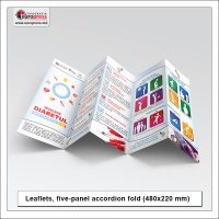 Leaflets folded five panel fold - Variety of Leaflets Folded - EuroPress Printing House