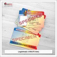 Legitimatie 100x70 mm - Varietate Legitimatii - Tipografia Europress