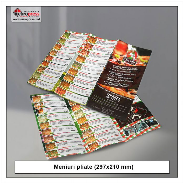 Meniuri pliate 297x210 mm - Varietate Meniuri - Tipografia Europress