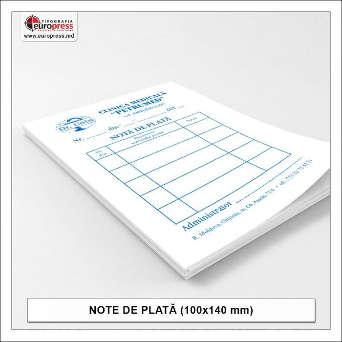 Nota de plata 100x140 mm - Varietate Note de Plata - Tipografia Europress