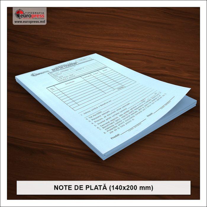 Nota de plata 140x200 mm - Varietate Note de Plata - Tipografia Europress