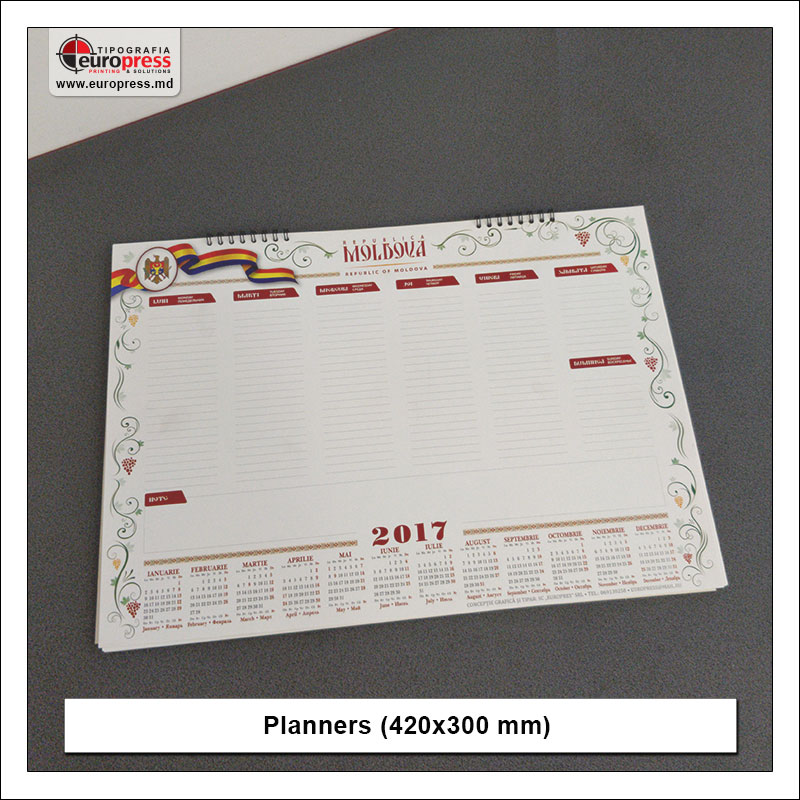 Planners 420x300 mm - Variety of organizers and planners - Europress Printing House