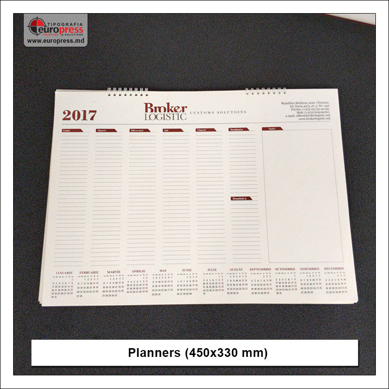 Planners 450x330 mm - Variety of organizers and planners - Europress Printing House