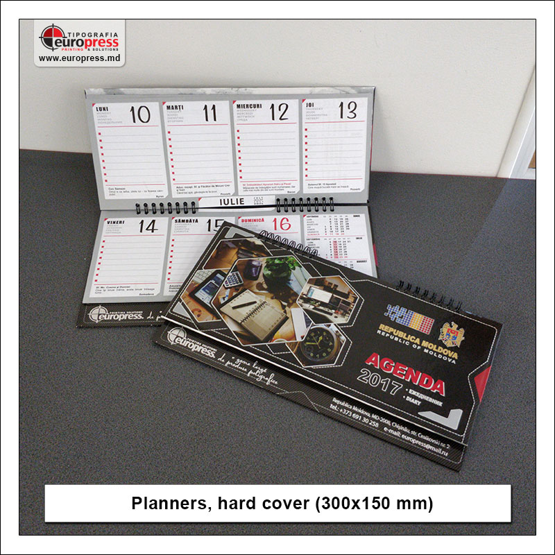 Planners hard cover 300x150 mm