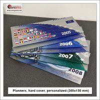 Planners hard cover personalized 300x150 mm - Variety of organizers and planners - Europress Printing House