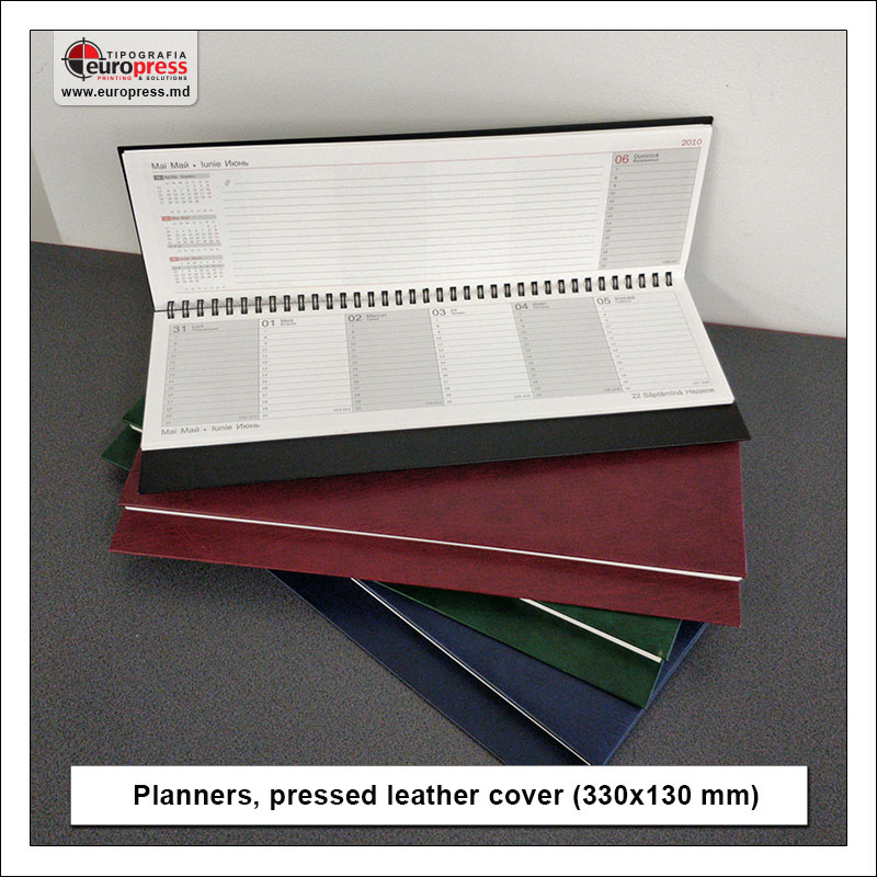 Planners pressed leather cover 330x130 mm - Variety of organizers and planners - Europress Printing House