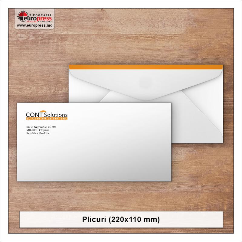 Plicuri 220x110 mm - Varietate Plicuri - Tipografia Europress