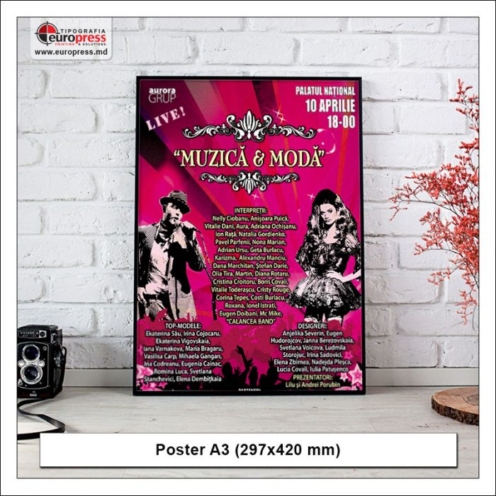 Poster A3 - Variety of Posters - EuroPress Printing House