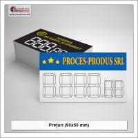 Pret pentru produs 90x50 mm - Varietate Preturi pentru produse - Tipografia Europress